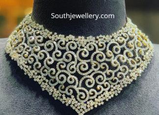 indian diamond necklace designs