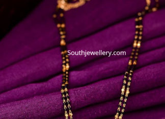 mangalsutra chain with parrot pendant