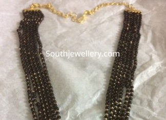 nallapusalu necklace with kundan pendant