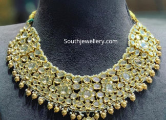 polki diamond necklace satyanarayan