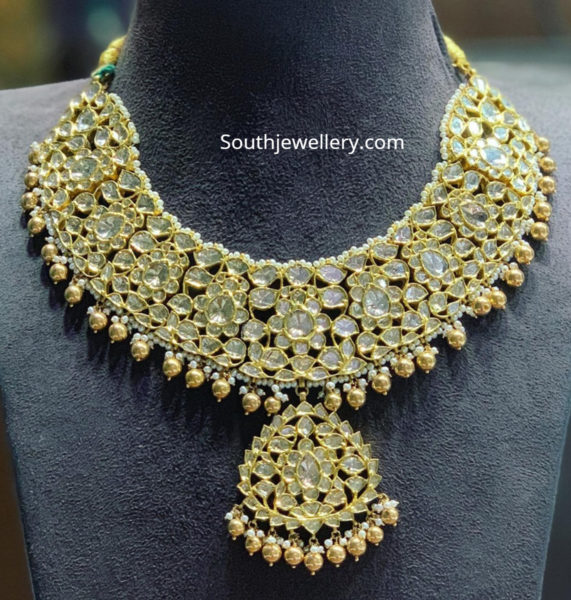 polki diamond necklace satyanarayan