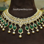 polki emerald necklace