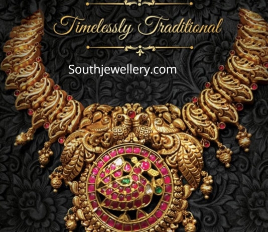 traditional peacock necklace ananth diamonds