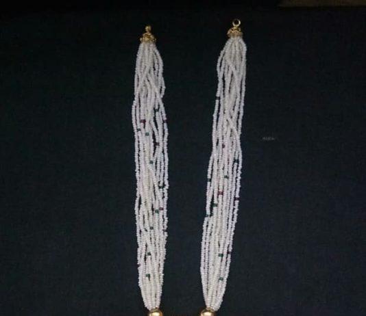 pearl mala with nakshi pendant