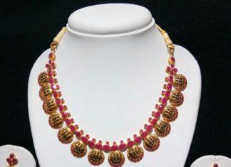 ram parivar kasu necklace