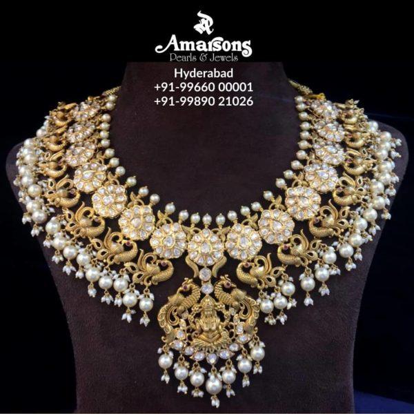 lakshmi polki necklace