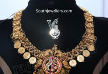antique gold kasu necklace