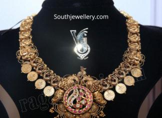 antique gold kasu necklace