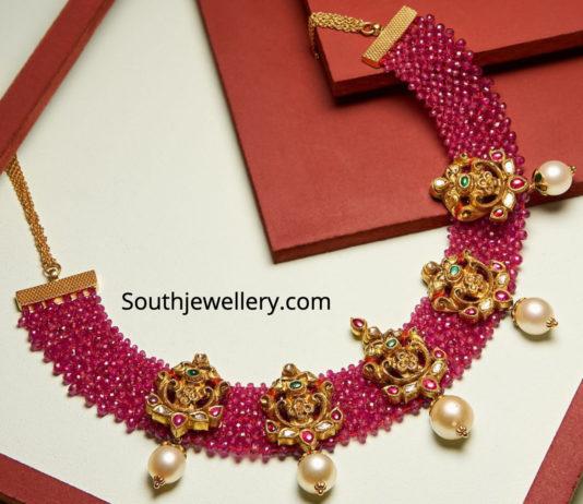 nakshi ruby necklace