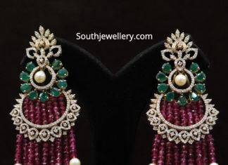 diamond ruby earrings