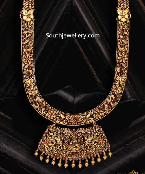 antique gold nakshi haram