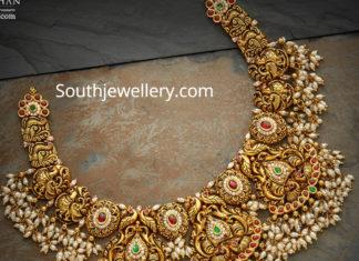 traditional nakshi guttapusalu necklace