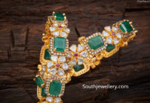 uncut diamond and emerald bangles