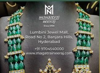 emerald beads mala designs
