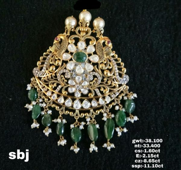 antique gold pendant