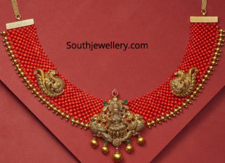 woven coral necklace