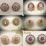 polki studs tops earrings