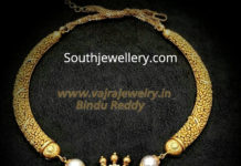 kanthi necklace with diamond pendant