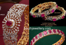 diamond ruby bangles