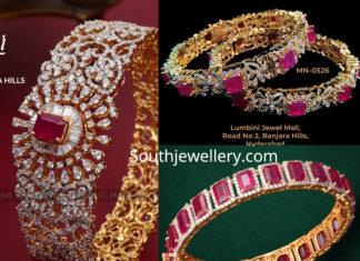 diamond ruby bangles