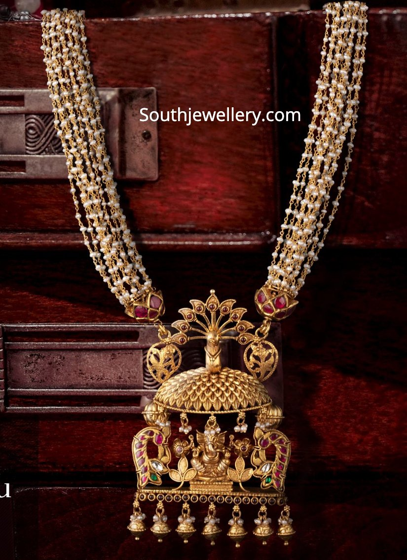 Multi Strand Pearl Necklace With