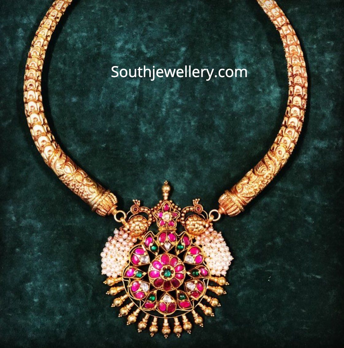 30 Beautiful Gold Kanti Necklace Designs Indian Jewellery Designs