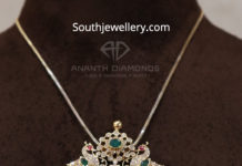 closed setting diamond pendant