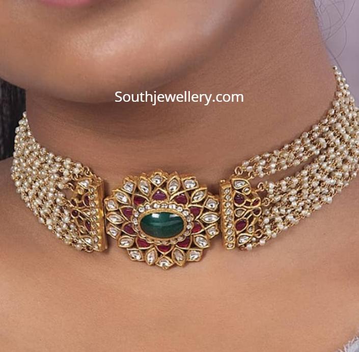 Trending Indian Choker Necklaces Beaded Choker Designs