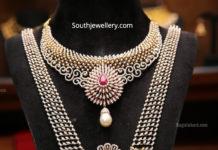 diamond necklace and haram