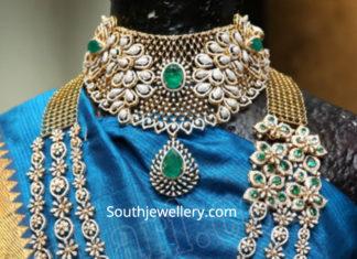 diamond necklace and layered haram