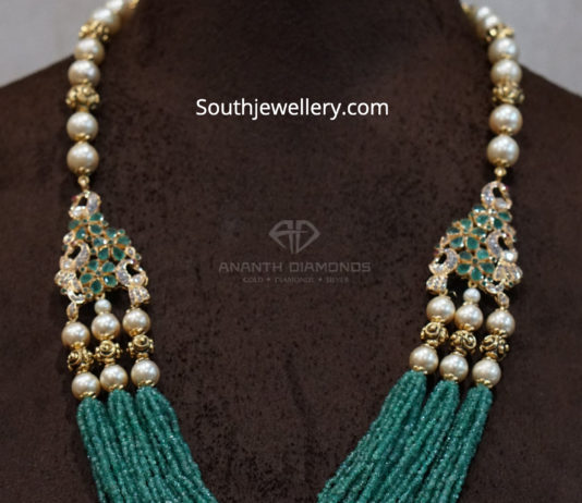 emerald long necklace