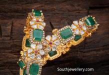 emerald and polki bangles