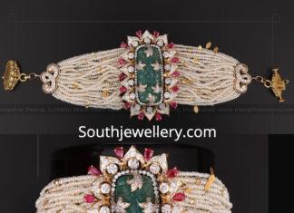 multi strand pearl choker plus bracelet