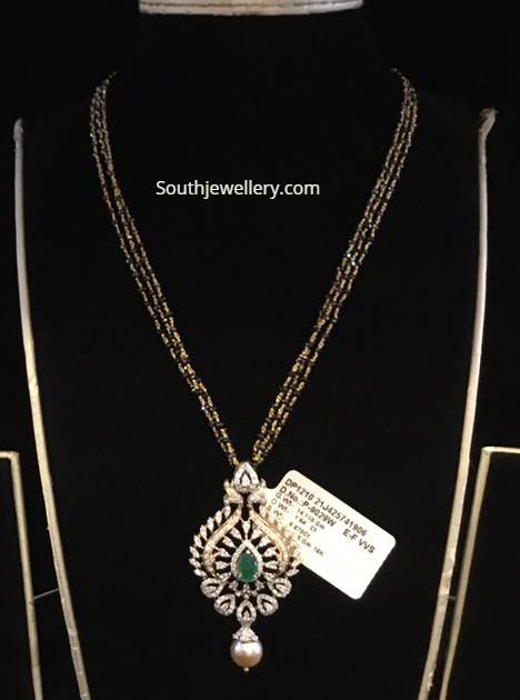 black diamond mangalsutra chain