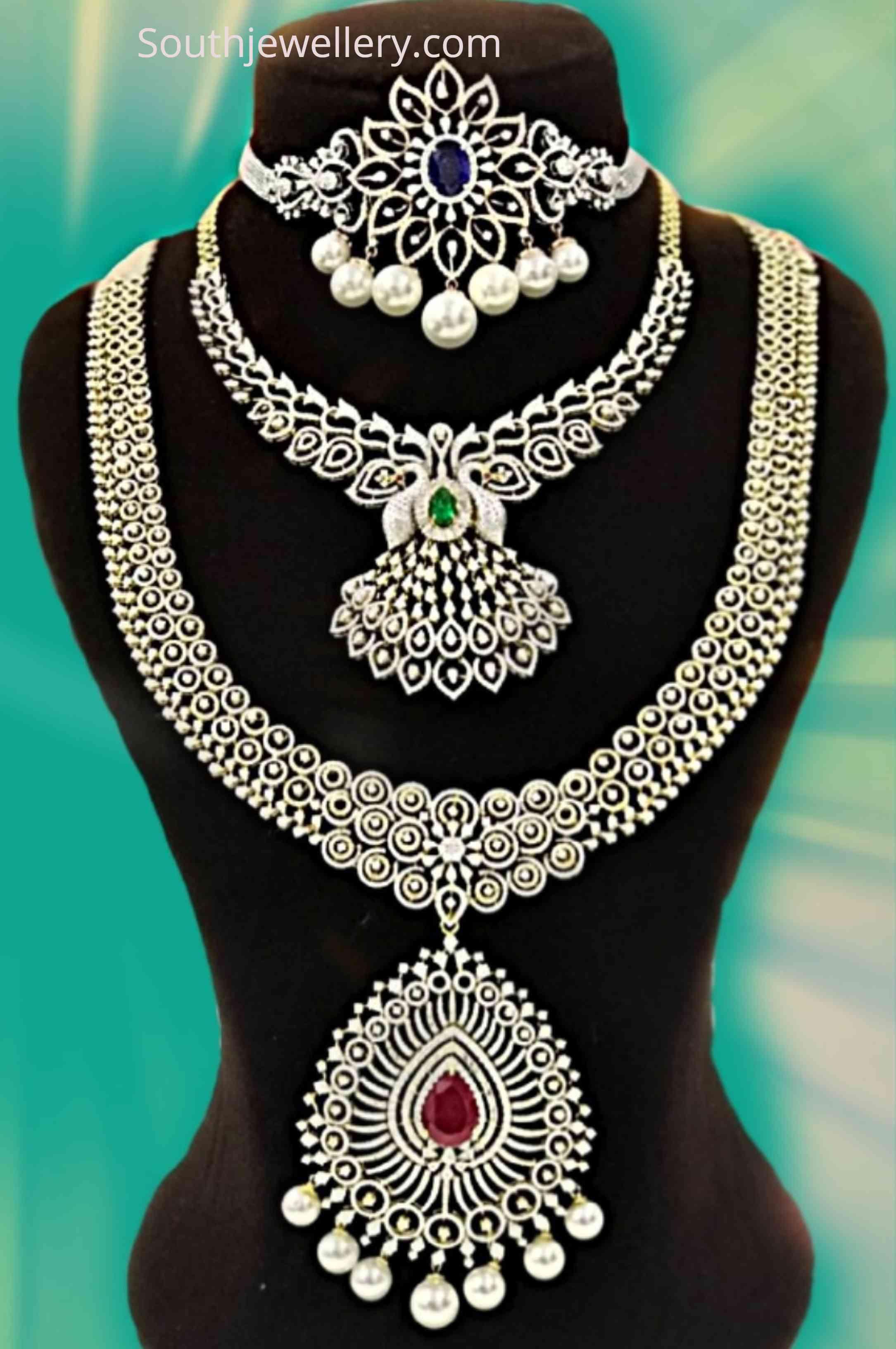 Bridal Diamond Jewellery Set By Sri Shankarlal Jewellers Indian
