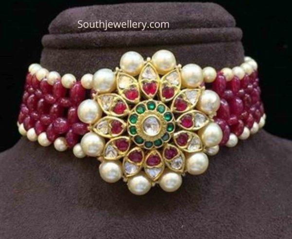 ruby beads choker necklace (1)