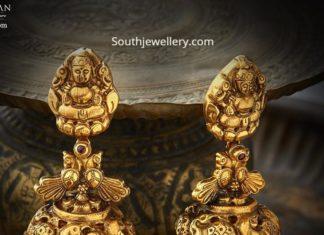 gold jhumka designs 22 carat