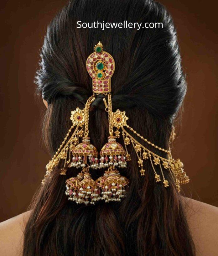 22 k gold hair clip