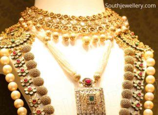 antique gold polki haram