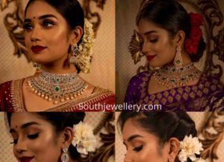 diamond emerald choker sets manjula jewels