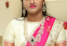 diamond jewellery with half saree