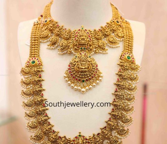 gold necklace and haram set 22 carat