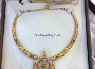 kanthi necklace with krishna pendant