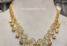 light weight gold filgree necklace