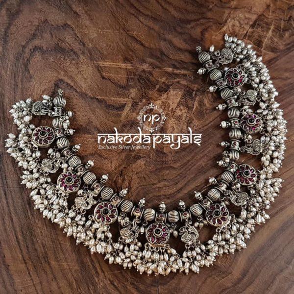pure silver guttapusalu necklace
