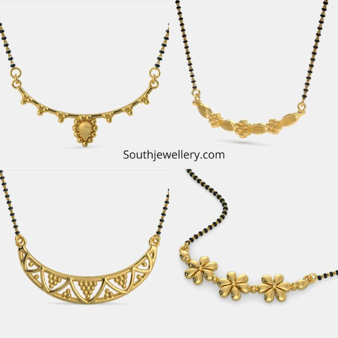 nallapusalu chains with gold pendants