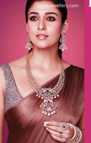 nayanthara in tanishq diamond jewellery