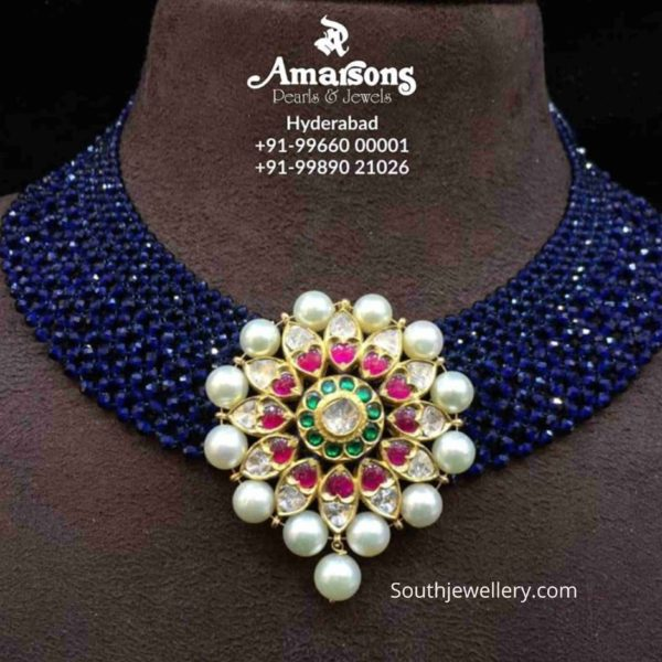 sapphire beads necklace