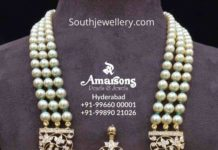 south sea pearl necklace with diamond pendant