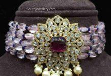 thick beads choker indian